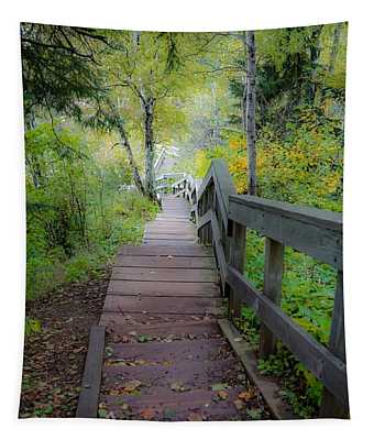 Winding Stairs In Autumn Tapestry