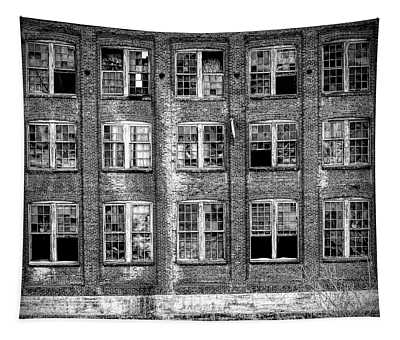Windows Of Old Claremont Tapestry