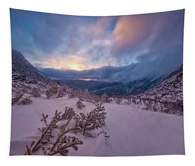 Windswept, Spring Sunrise In Tuckerman Ravine Tapestry