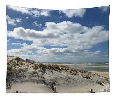 Windy Day At The Beach Tapestry