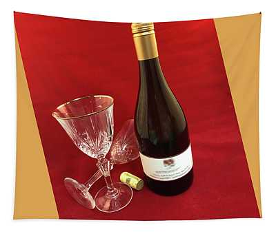 Wine Glasses On Red Tapestry