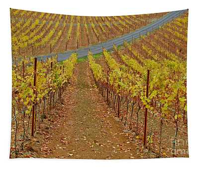 Wine Time Vines 2 Tapestry