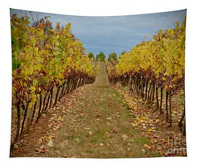 Wine Time Vines Tapestry