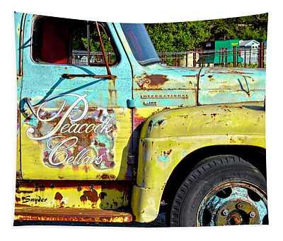 Wine Truck Peacock Cellars Tapestry