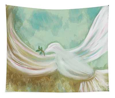 Wings Of Peace Tapestry