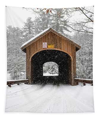 Winter At Babb's Bridge Tapestry