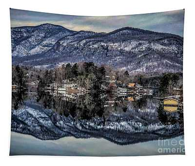 Winter At Lake Lure 1 Tapestry