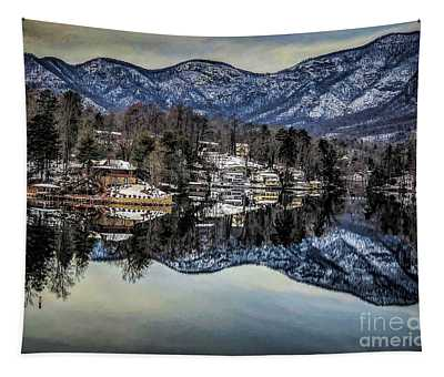 Winter At Lake Lure  Tapestry