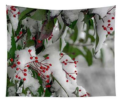 Winter Berries Tapestry