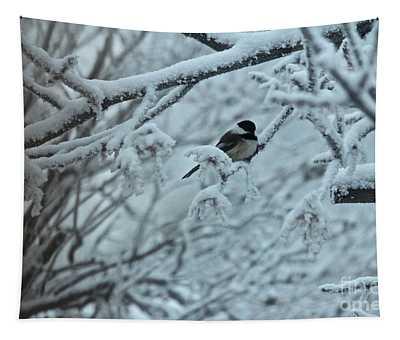 Winter Chickadee Tapestry