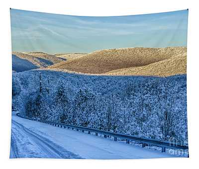 Winter Drive Highland Scenic Highway Tapestry