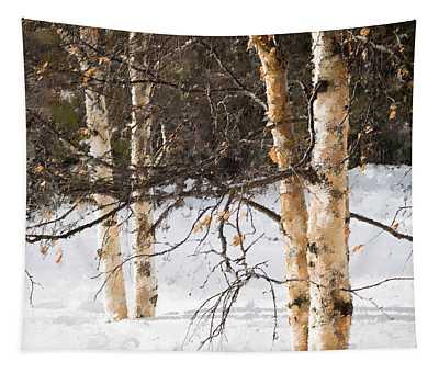 Winter In Canada Tapestry
