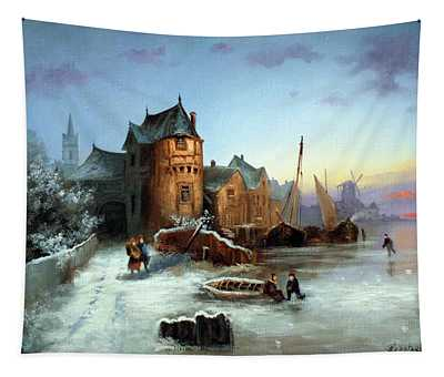 Winter In Normandy Tapestry