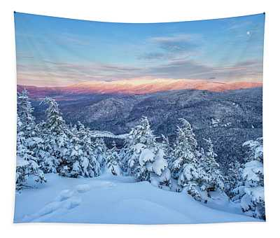 Winter Light, Mountain Views Tapestry