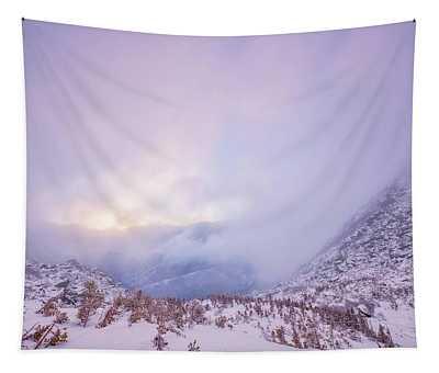 Winter Morning Light Tuckerman Ravine Tapestry