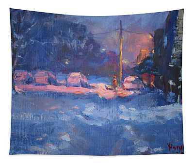 Winter Nocturne Tapestry