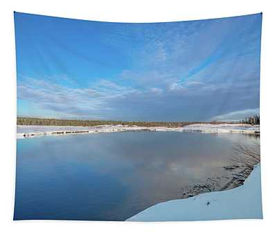 Winter On The Sucker River Tapestry