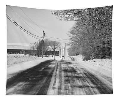 Winter Road--mt. Vernon Tapestry