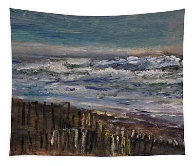 Winter Surf At Sandy Neck Tapestry