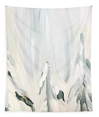 Tapestry featuring the painting Winter Trees And Sky by Maria Langgle