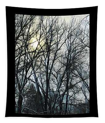 Winter Trees Sunrise Tapestry