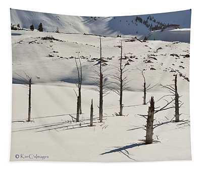 Wintertime At Quake Lake Tapestry