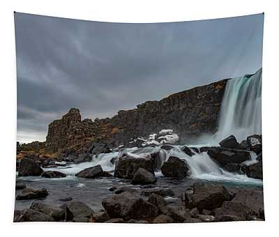 Wintertime In Iceland's Waterfall Tapestry