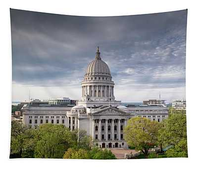 Wisconsin State Capital Exterior Tapestry