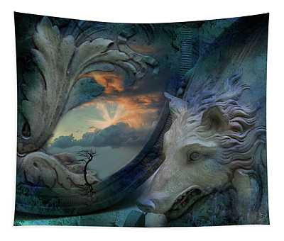 Wolf At The Window Tapestry