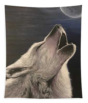 Wolf Howl Tapestry