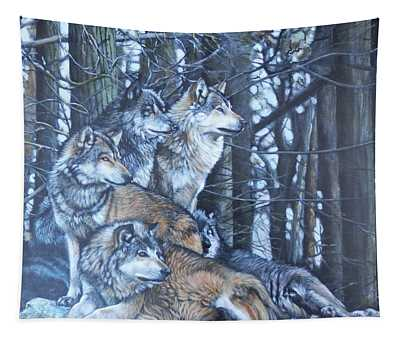 Wolf Pack Tapestry