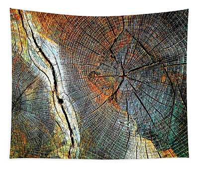 Wood Age Cut Wood Tapestry