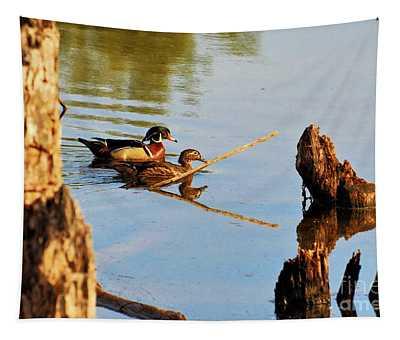 Wood Ducks Tapestry