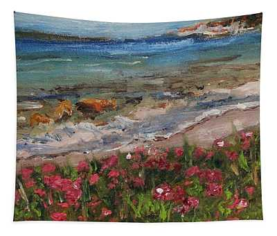 Wood Neck Beach View Tapestry