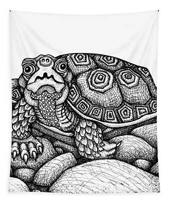 Wood Turtle Tapestry