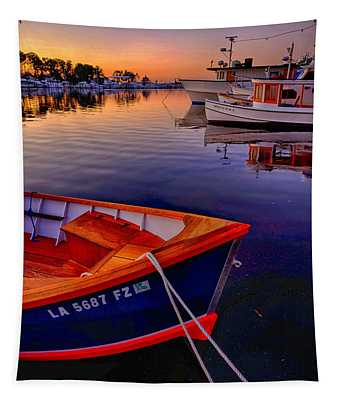 Wooden Boats Tapestry