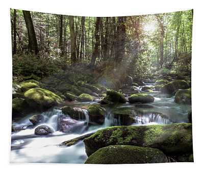Woodland Falls Tapestry