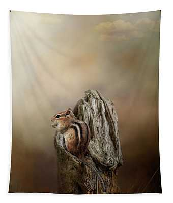 Woodland Visitor Tapestry