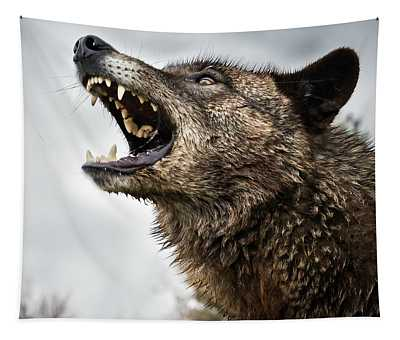 Woof Wolf Tapestry
