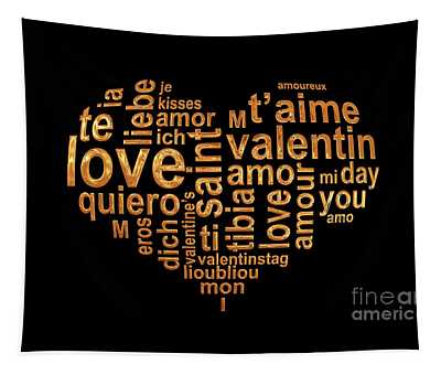 Words Of Love Tapestry