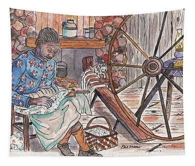 Working Cotton The Old Fashioned Way Tapestry