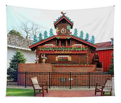 Worlds Biggest Cuckoo  Clock Sugarcreek Ohio 5288 Tapestry