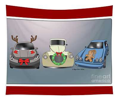 Xmas Cars Tapestry