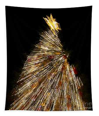 Xmas Tree Motion Art Tapestry