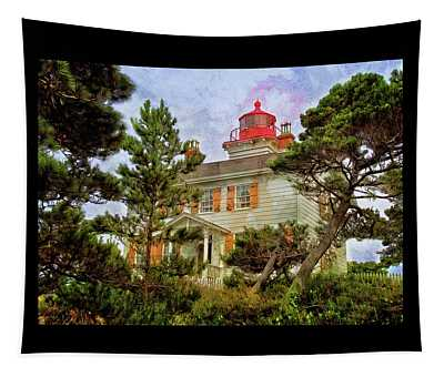 Yaquina Bay Lighthouse Two Tapestry
