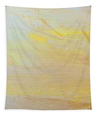 Tapestry featuring the painting Yellow #2 by Maria Langgle