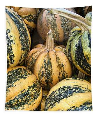 Yellow And Green Pumpkins Tapestry