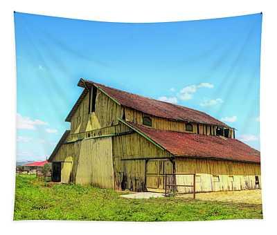 Yellow Barn Nipomo California II Tapestry