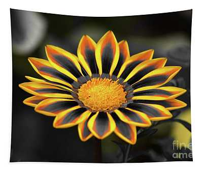 Tapestry featuring the photograph Yellow Edged Gazania by Patti Whitten