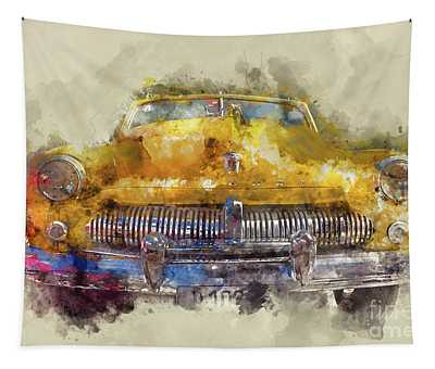Yellow Ford Mercury Tapestry